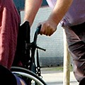 rolstoel duwen